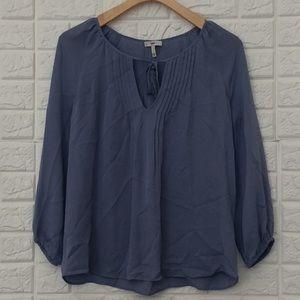 Joie periwinkle blue silk peasant blouse